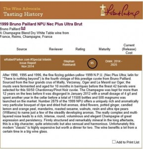 Bruno-Paillard-NPU-1999-Robert-Parker-rating-Wine-Advocate