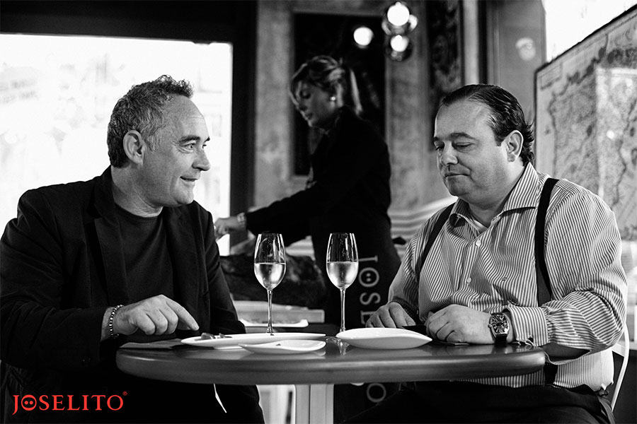 Jose Gomez Joselito with Chef Ferran Adria