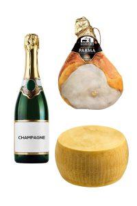 Champagne parma ham parmesan