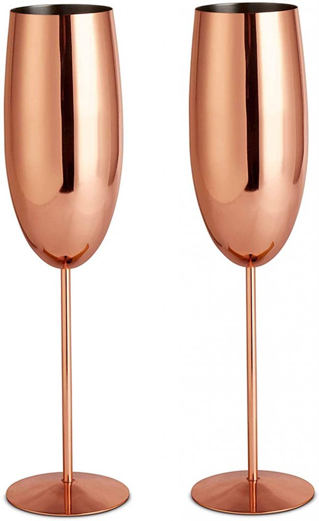 VonShef Copper Champagne Flute