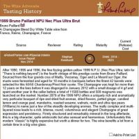 Bruno Paillard N.P.U. 1999 Rated 95/100 By Robert Parker's Wine Advocate